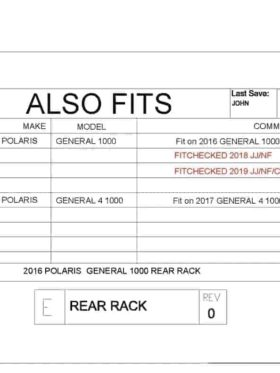 Polaris General Rear Gear Rack