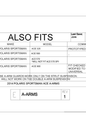 Polaris Ace A-arm Guards