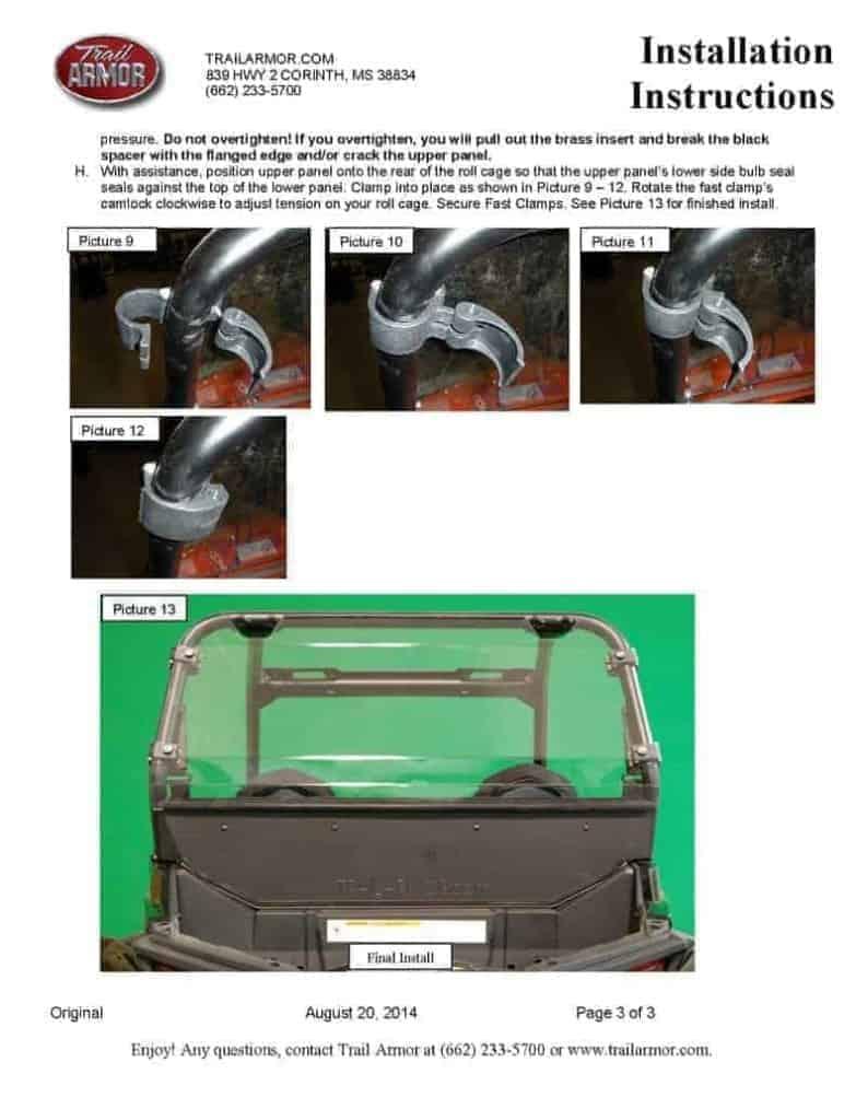 Polaris Rzr 4 900 Rear Window Dust Shield