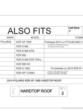 Polaris Rzr Xp Series Hard Top Roof