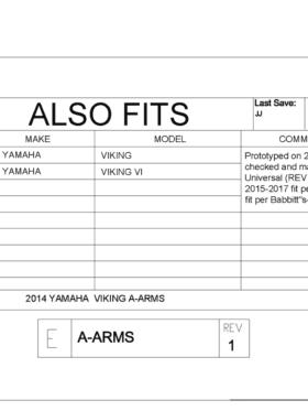 Yamaha Viking Impact A-arm Front And Rear Guards