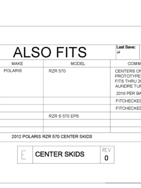 Polaris Rzr 570 Center Skid Plate