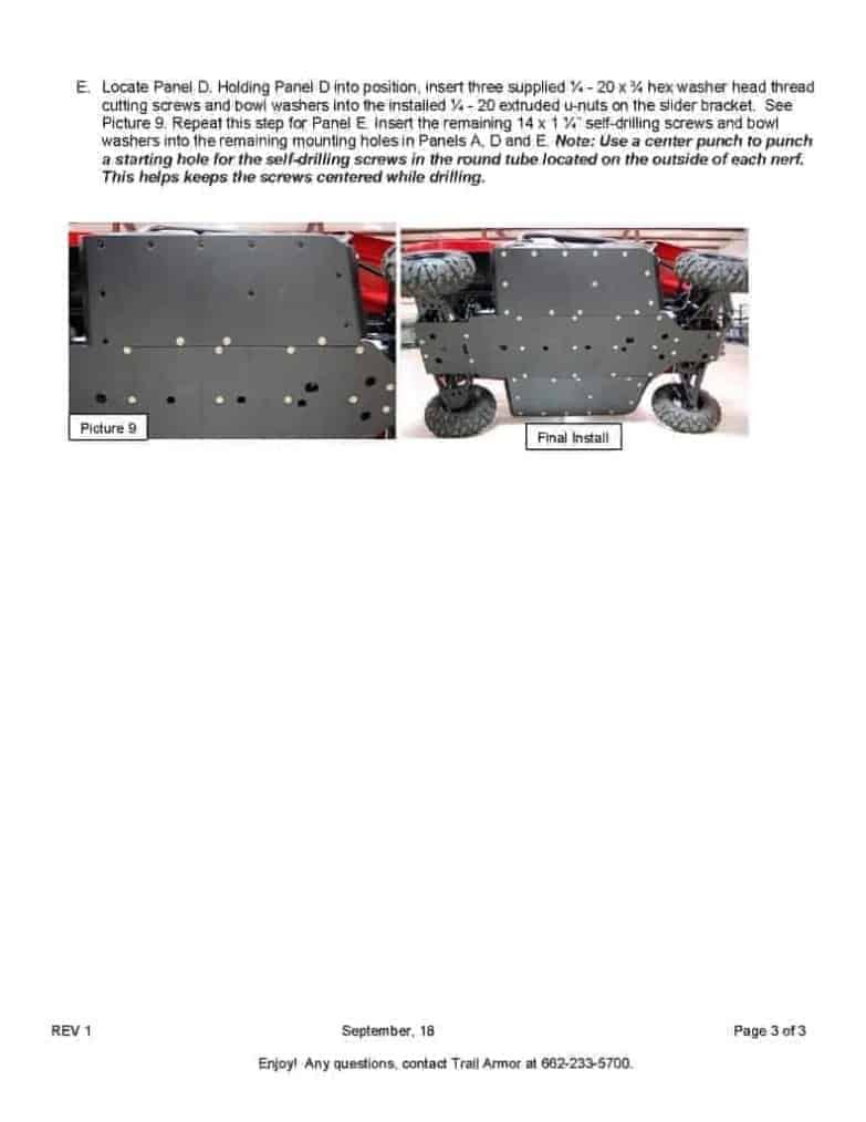 Yamaha Viking Full Skid Plate With Integrated Sliders