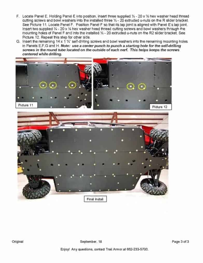 Yamaha Viking Vi Full Skid Plate With Integrated Sliders