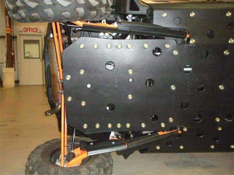 Polaris Rzr Xp 900 Full Skid Plate With Slider Nerfs