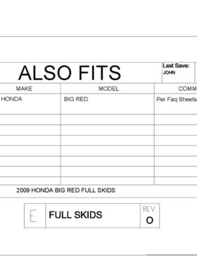 Honda Big Red Full Skid Plate
