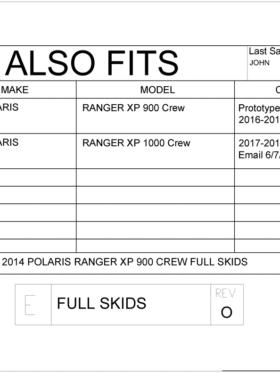 Polaris Ranger Xp Series Crew Full Skids