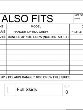 Polaris Ranger Xp 1000 Crew Full Skid Plates
