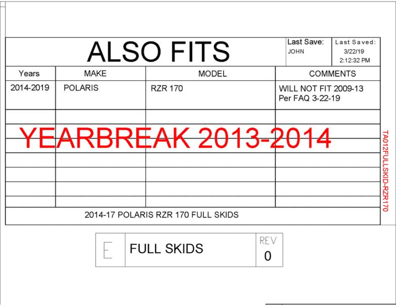 Polaris Rzr 170 Full Skid Plates