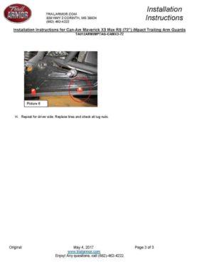 Can-am Maverick X3 Trailing Arm Guards, 64″ Edition