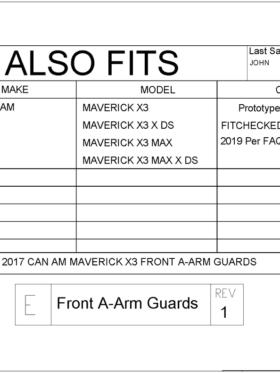 Can-am Maverick X3 Front A-arm Guards, 64″ Edition