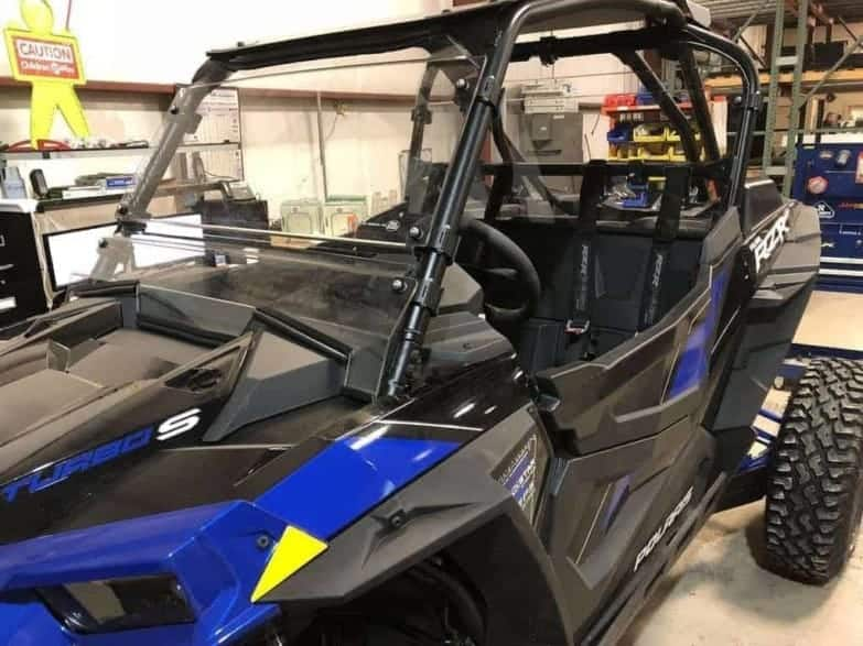 Polaris Rzr Turbo S Front Windshield, Full Coolflo Edition