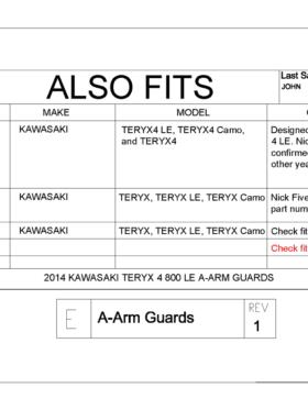 Kawasaki Teryx 4 Impact A-arm Guards