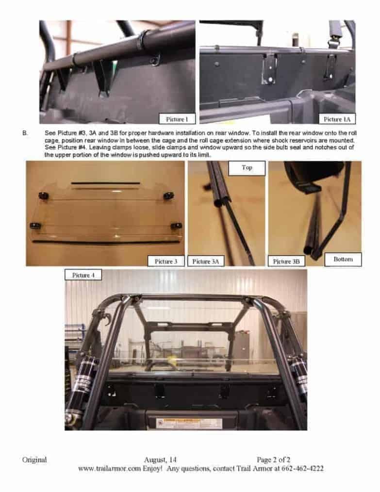 Polaris Rzr Xp 4 Series Rear Window