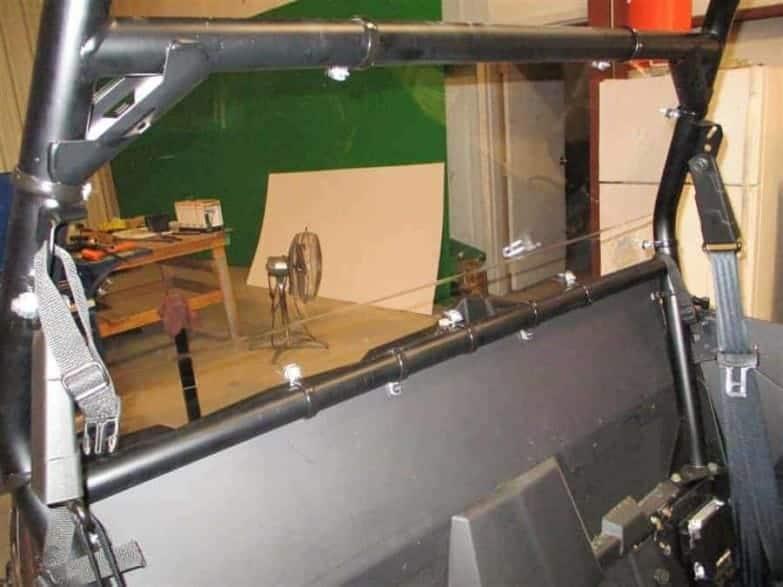 Polaris Rzr Rear Window Dust Shield Kit