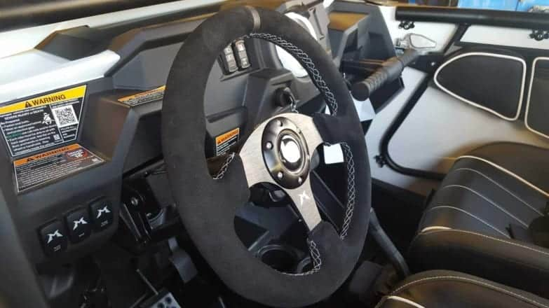 Black Suede Utv Steering Wheel