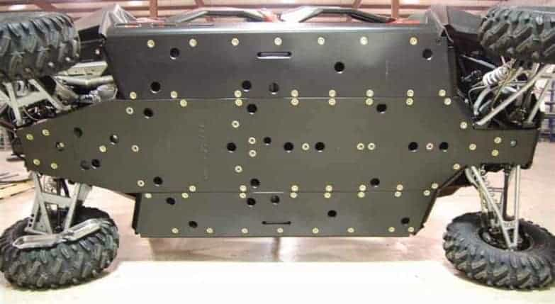 Polaris Rzr S 4 Series Full Skid Plate With Rock Sliders