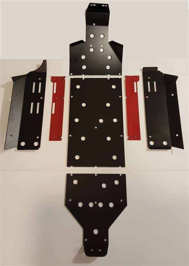 Yamaha Yxz Skid Plate With Integrated Sliders