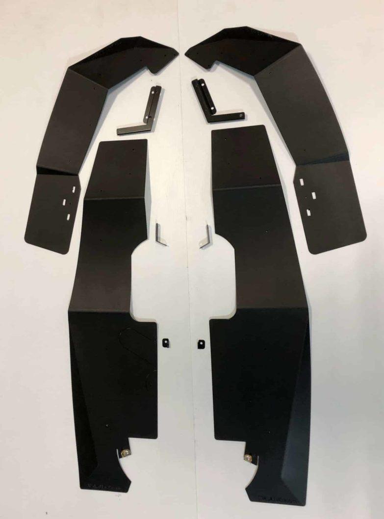 Polaris Rzr Xp Series Mud Flap Fender Extensions, Full Set New Style