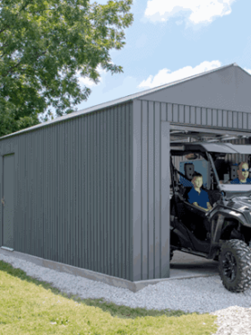 Everest Garage, Steel, Wind & Snow Rated Building Kit.