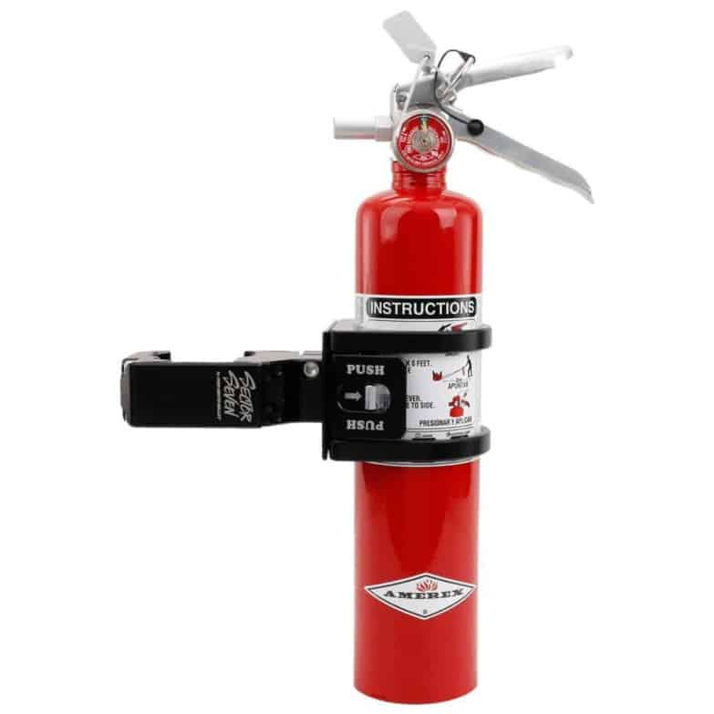 Billet Fire Extinguisher With Quick Release Mount