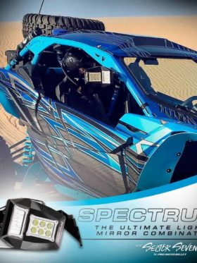 Spectrum Utv Led Lighted Mirrors Bung Mount Kit