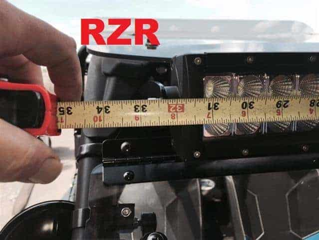 Polaris Rzr Light Bar Mount