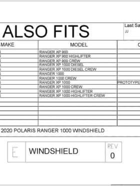 Polaris Ranger Front Windshield