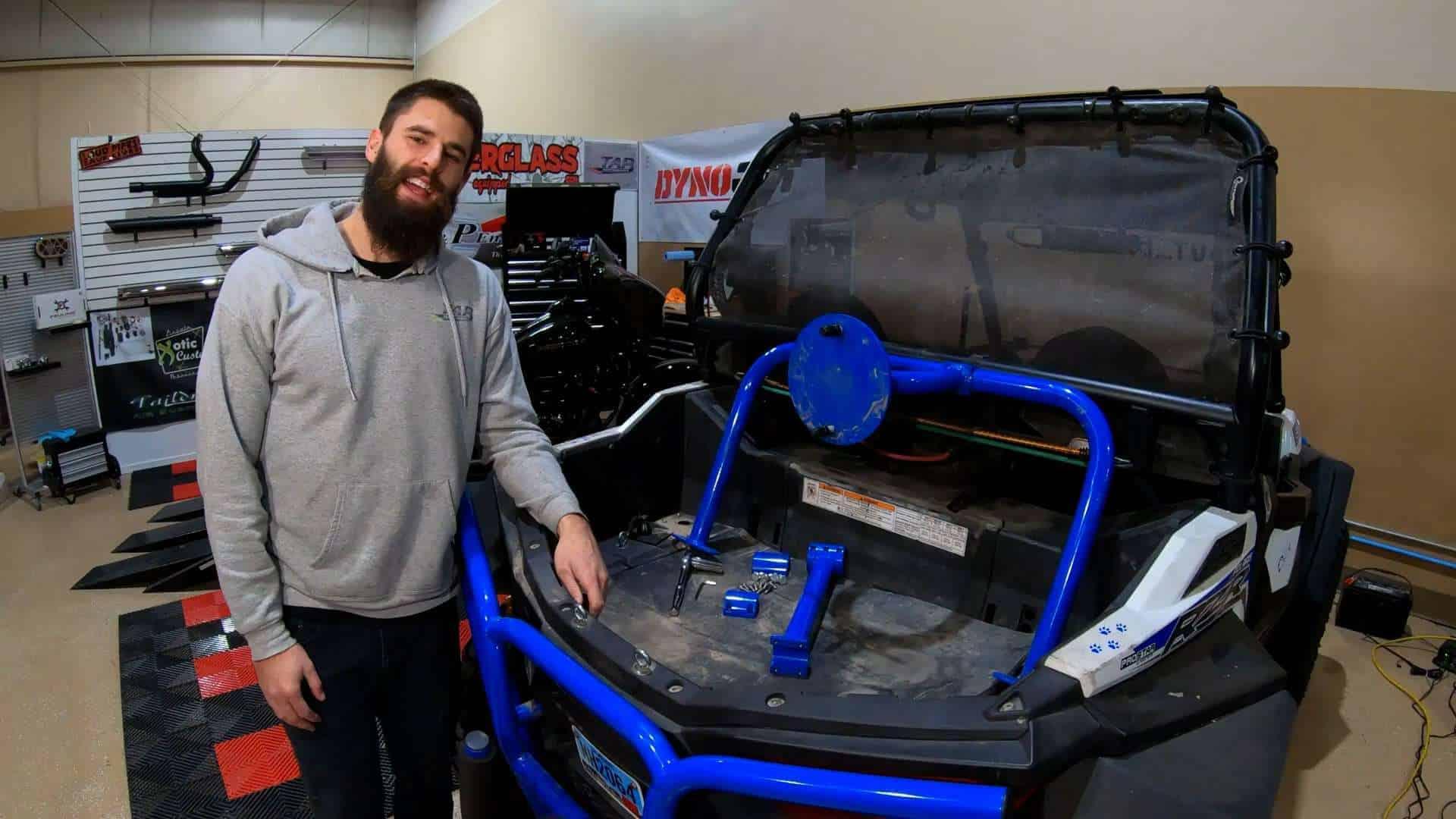 RZR Spare Tire Install