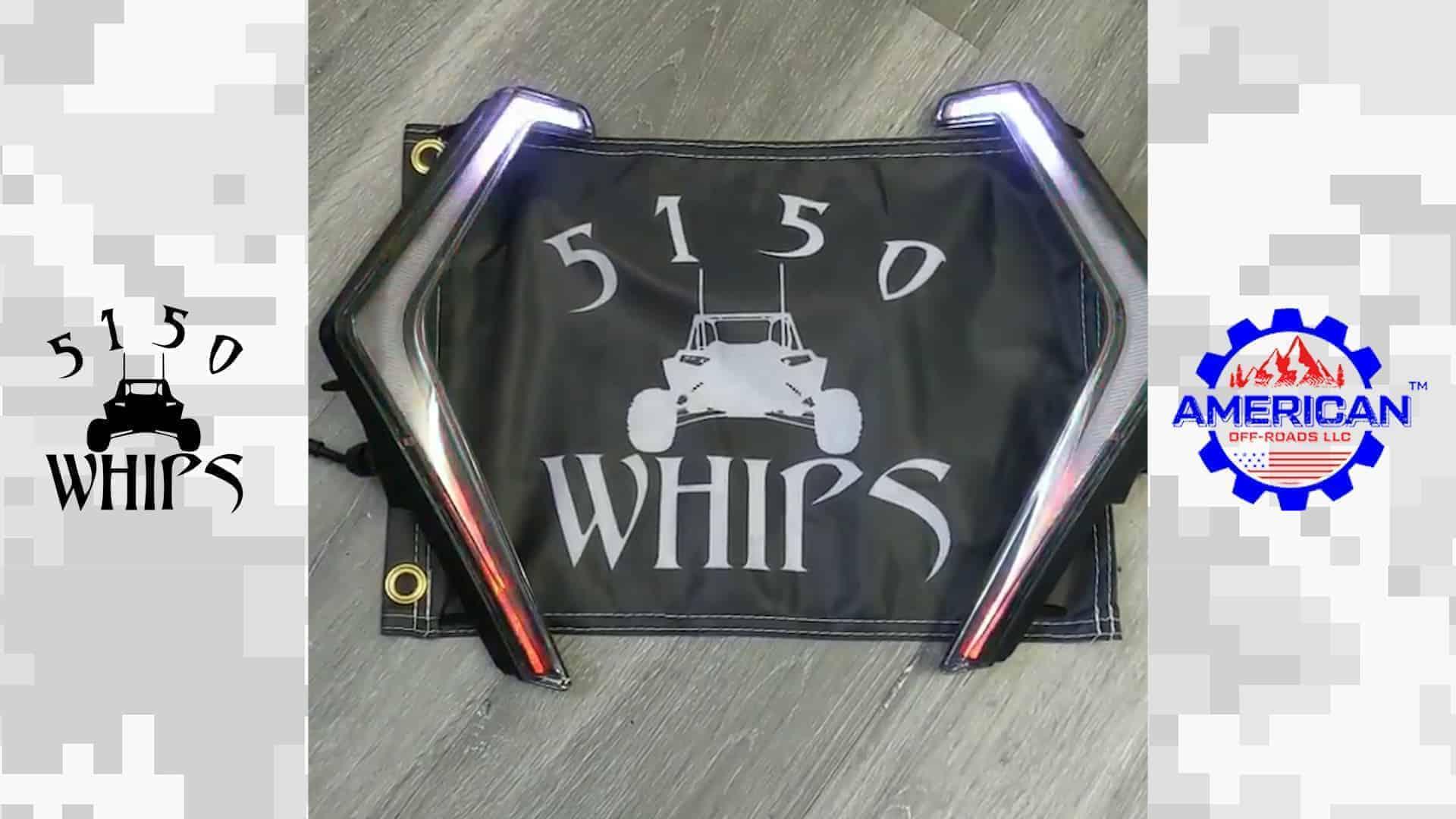 5150 Whips Polaris RZR Fang Lights