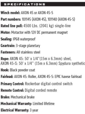 Warn Axon Utv/atv Winch