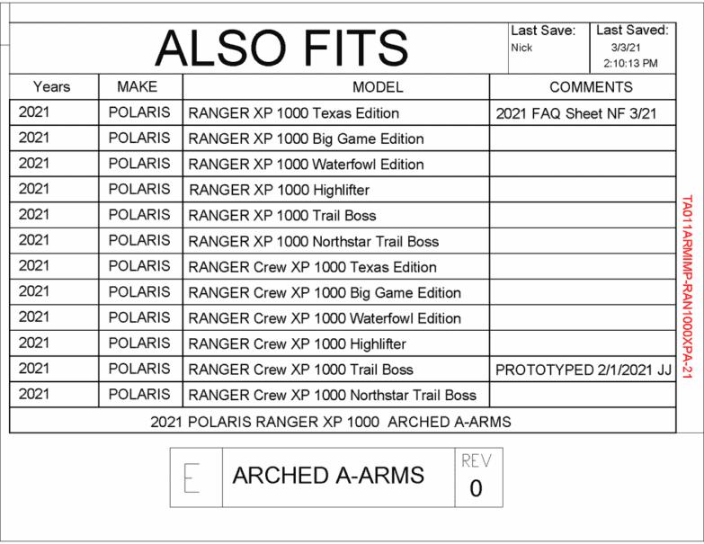 Polaris Ranger Xp 1000 A-arm Guards, Arched Arms